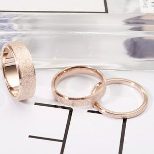 AmberRenée & Co Jewelry - 🔖Frosted Rose Gold Shimmer Ring Band